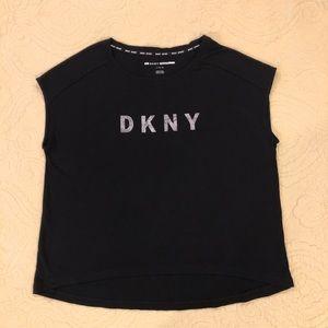 EUC! DKNY Sport Tee Shirt Top Large Black